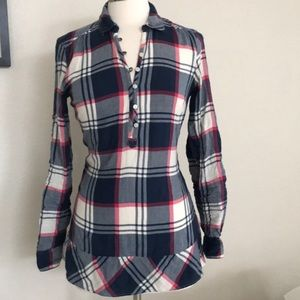 American Eagle outfitters plaid long sleeve dress